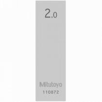 Mitutoyo 611612-131 2.0mm Steel Gauge Block Grade 1