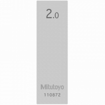 Mitutoyo 611612-131 2.0mm Steel Gauge Block Grade 1