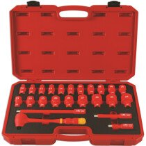 """Laser 6147 Insulated Socket Set 1/2"""" Drive 24 Piece"""