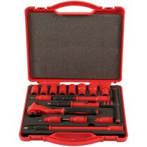 "Laser 6148 Insulated Socket Set 3/8"" Drive 16 Piece"