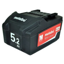 Metabo 625592000 18v - 5.2Ah Li-ion Battery