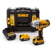 Dewalt DCF899P2 18v Li-ion XR High Torque Brushless Impact Wrench 2 x 5.0Ah Batteries in TSTAK Case