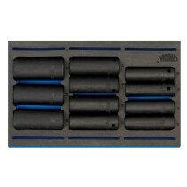 "Draper 63483 IT-EVA20 1/2"" Sq. Dr. Impact Socket Set In 1/4 Drawer Eva Insert Tray (11 Piece)"