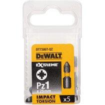 DeWalt  DT7386T-QZ PZ1 25mm IR Torsion Bit Pack x 5
