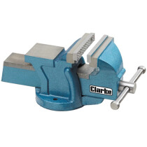 """Clarke CV150B 6"""" (150mm) Heavy Duty Bench Vice with Fixed Base 6504011"""