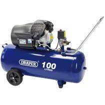 Draper 65396 DA100/412TV 100L 230V 2.2kW (3hp)  V-Twin Air Compressor