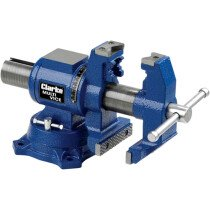 "Clarke CMV100 Multi-Purpose 100mm (4"") Cast Iron Vice 6501967"