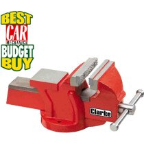 Clarke CV4RB 100mm Workshop Vice with Fixed Base Red 6504002