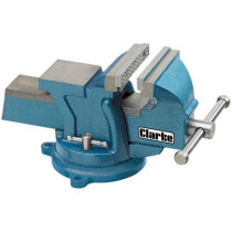 "Clarke CVR100B 4"" (100mm) Heavy Duty Bench Vice with Swivel Base 6504013"