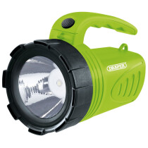 Draper 66012 RHL3W/LE/G 3W LED Rechargeable Torch (Green)