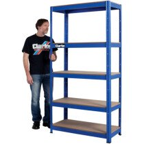 Clarke CSM5350BP Universal Bolt-less Shelving Unit/Bench 350kg Blue 6600810