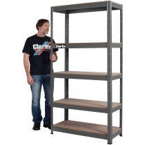 Clarke CSM5350B Universal Bolt-less Shelving Unit/Bench (Dark Grey) 6600814