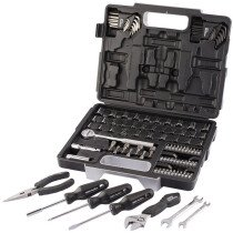 "Draper 68503 105 Piece 1/4"" & 3/8"" Socket and Essential Tool Kit"