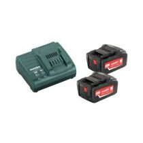 "Metabo 685065000 18V Li-ion ""Starter Kit"" 2 x 18v - 5.2Ah Batteries with Charger"