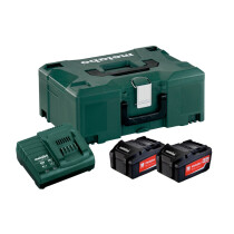 "Metabo 685064000 18V Li-ion ""Starter Kit"" 2 x 18v - 4.0Ah Batteries with Charger and Metaloc Case"