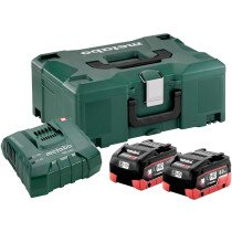 Metabo 685131000 18v - 8.0Ah Basic Set, 2 Batteries and Charger in Metaloc Case