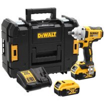 "DeWalt DCF894P2-GB 18V XR 1/2"" Brushless Compact High Torque Impact Wrench 450Nm with 2 x 5.0Ah Batteries in TSTAK Case"