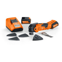 Fein AFMT12QSL 12V MultiTalent (QuickIn) QuickStart Oscillating Multi Tool with 2x 2.5Ah Batterie in Case