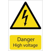 Draper 72237 SS22 'Danger High Voltage' Hazard Sign