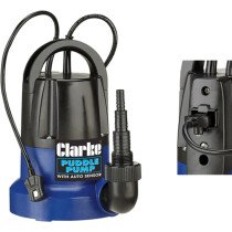 Clarke PSP125B 400W 230v Clean Water Puddle Pump with Auto Sensor 7230694