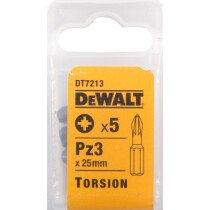 DeWalt DT7213-QZ Torsion Bit Pz 3 25mm - 5pk