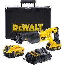 DeWalt DCS380M2-GB 18v XR Li-ion Reciprocating/Sabre Saw with 2 x 4.0Ah Batteries in HD Kitbox
