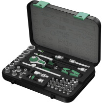 "Wera 8100 SA 4 Zyklop 1/4"" Drive Socket Set 41 Piece Imperial 05003535001"