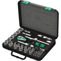 "Wera 8100 SB 2 Zyklop Socket Set Metric 43 Piece 3/8"" Drive 05003594001 WER003594"