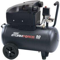 Draper 81710 DA50/322TV 50L 230V 1.8kW (2.5hp) Oil Free V-Twin Air Compressor