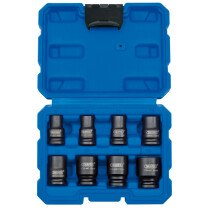 "Draper 83089 409/8/MM 3/8"" Sq. Dr. Metric Impact Socket Set (8 Piece)"