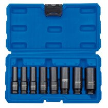 "Draper 83090 409D/8/MM 3/8"" Sq. Dr. Metric Deep Impact Socket Set (8 Piece)"