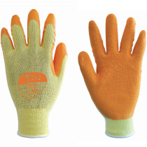 Polyco 860 Reflex Orange Latex Palm Glove Size 10 (Pair)