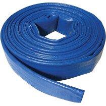 Silverline 868776 40mm x 10Mtr Layflat Discharge Hose Blue