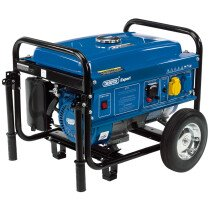 Draper 87088 PG28W 4 Stroke Engine Petrol Generator with Wheels (2.5kVA/2.5kW)