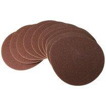 Scheppach 8800 0209 Velcro Backed Sanding Discs 150mm 120 Grit (Pack of 10)
