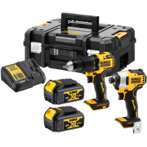 DeWalt DCK2062M2T-GB 18V XR Brushless Compact Twin Pack With 2 x 4Ah Batteries in TSTAK
