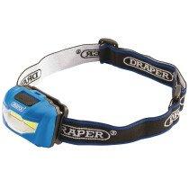 Draper 90071 HL16 3W COB LED Headlamp (3 x AAA Batteries)