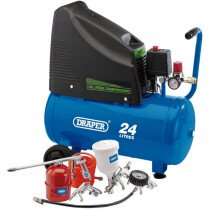 Draper 90126 DA25/19/K 230V Oil Free Compressor and Air Tool Kit