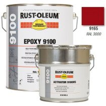 Rustoleum 9165.5 Topcoat with Activator 2-Pack Red Finish 5ltr (9165.5+9101)
