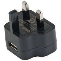 Draper 93038 AUSB(UK) 230V USB Charger (1 Amp)
