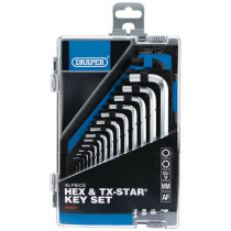 Draper 99421 Hex and TX Star Key Set and Case (45 Piece)