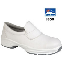 Himalayan 9950 Microfibre Toecap Protection Slip-On Shoe - White - Size 5 - Clearance Size