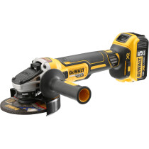 Dewalt DCG405P2 18V Cordless XR Brushless Angle Grinder 125mm with 2 x 5.0Ah Batteries in HD Kitbox