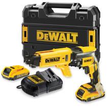 Dewalt DCF620D2K 18v Li-ion Autofeed Screwdriver with 2 x 2.0Ah Batteries in TSTAK Kit Box