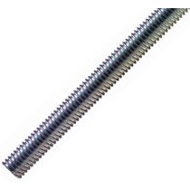 STF A4 (316, 18/8/3) M6 Stainless Steel Threaded Bar Rod Studding 1mtr Long