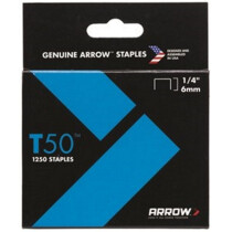 """Arrow A50424 T50 6mm (1/4"""") Steel Staples (Pack of 1,250)"""