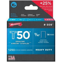 """Arrow A50924 T50 14mm (9/16"""") Steel Staples (Pack of 1,250)"""