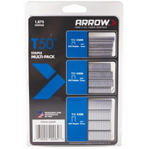 Arrow A50MP T50 Staple Multi-Pack 6/8/10mm (625 of each size)
