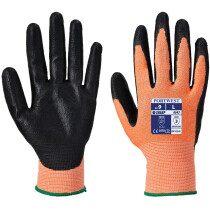 Portwest A643 Amber Cut - Nitrile Foam Cut Resistant Gloves - Amber