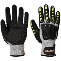 Portwest A722 Anti Impact Cut Resistant Glove - Grey/Black